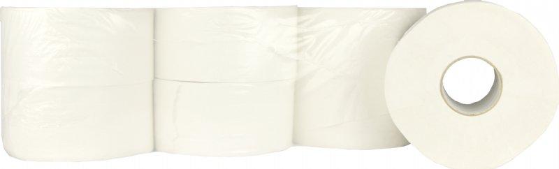 Mini Jumbo toiletpapier cellulose 2 laags en 180 meter op rol / voordelig en professioneel toiletpapier