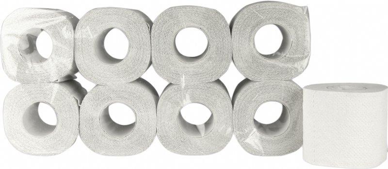 Gerecycled toiletpapier wit, 2 laags en 200 vel per rol / voordelig bij pallet afname