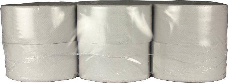 Professioneel toiletpapier Mini Jumbo recycled 2 laags en 180 meter per rol / de goedkoopste in zijn soort