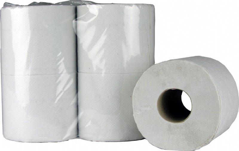 Traditioneel toiletpapier recycled 2 laags en 400 vel per rol voor elke sanitaire ruimten of toiletruimte