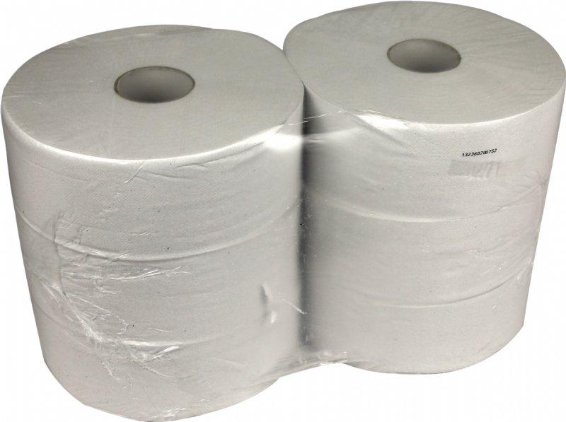 Maxi Jumbo toiletpapier 1 laags recycled 525 meter per rol voor sanitaire ruimten en toilet omgeving