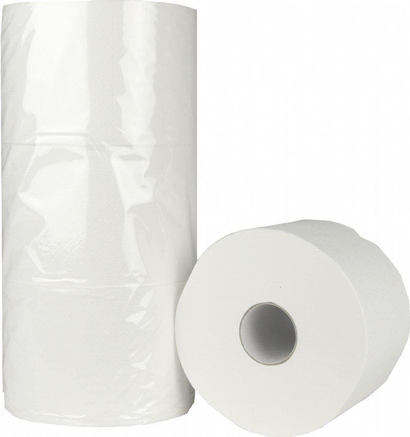 Professioneel Compact toiletpapier 2 laags met 100 meter op rol / voor onderwijsinstellingen, zorginstellingen en hotels