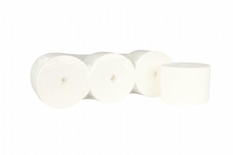 Professioneel toiletpapier compact coreless 2 laags en 900 vel per rol / voordelige prijs en top kwaliteit voor elke facilitaire dienst