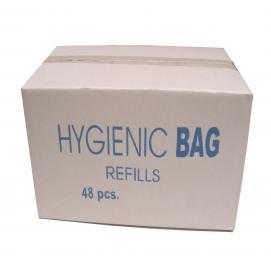 Damesverbandzakjes plastic 48 x 25 zakjes in een doos / een must in iedere toiletgroep
