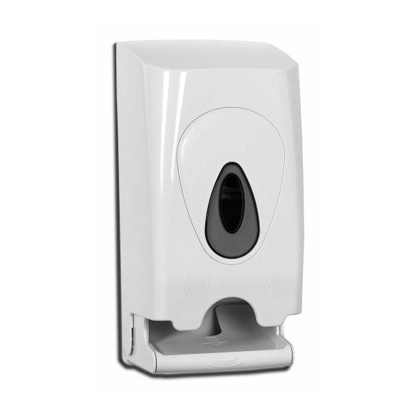 Goedkope toiletrolhouder 2 rols PlastiQline wit PQDuo   wordt geleverd o.a. in Spijkenisse, Vianen, Rijssen en Veenendaal