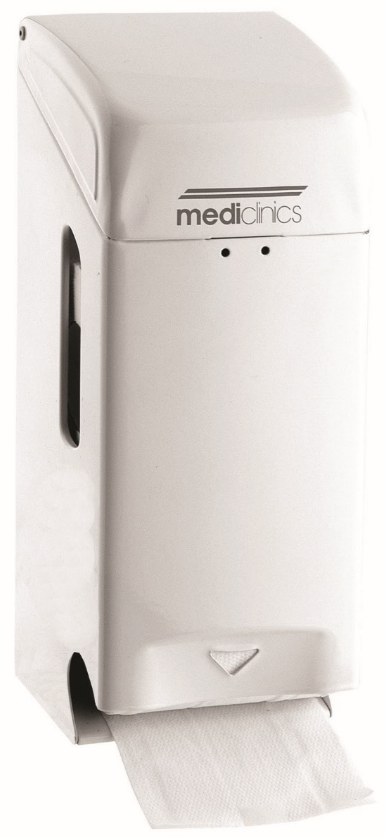 Toiletrolhouder mediclinics wit staal PRO784 2 rolshouder