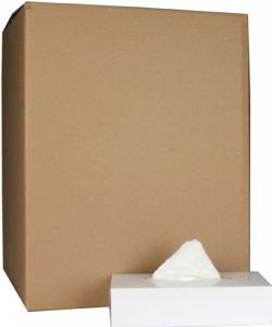 Papieren tissues 2 laags wit ecolabel 20,5x20,5cm 100 stuks per doos / voordelig en prima kwaliteit tissue