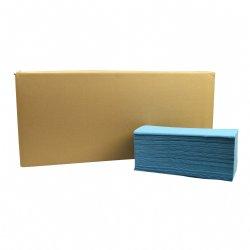 Handdoekjes Z-vouw recycled 1 laags 20 pakken van 250 vel per doos  / voor sanitair of facilitair gebruik