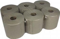 Midi poetsrol-handdoekrol recycled 1 laags 20cm x T300 meter per rol en 6 rollen per folie / de goedkoopste in zijn soort