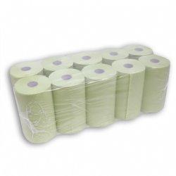 Groene handdoekrol 2 laags 23cm x 80 meter per rol en 10 rollen per verpakking  / messcherp geprijsd en top kwaliteit