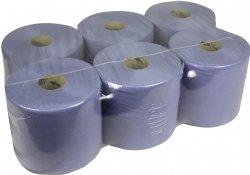 Blauwe poetsrollen Midi 1 laags 20cm x T300 meter per rol en 6 rollen per folie