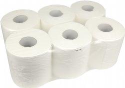 Midi poetsrol of handdoekrol zonder koker of kern1 laags 20cm x 300 meter en 6 rollen per folie / top kwaliteit voor messcherpe prijzen