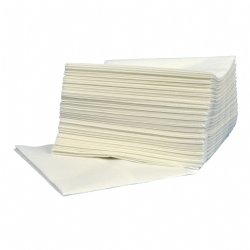 Professionele Supertex doek hoogwit 30x36cm z-vouw pluis en krasvrij 10 x 50 doeken per doos