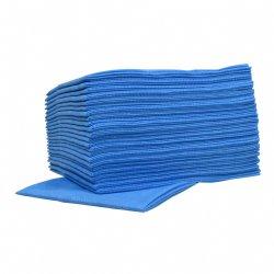 Voordelige sopdoeken non-woven food blauw 45x50cm en 10 pakken van 25 sopdoeken per doos