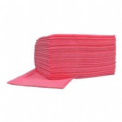Roze sopdoeken food non-woven 45cm x 50cm en 10 pakken van 25 sopdoeken per doos