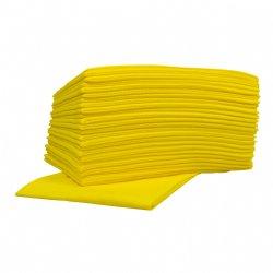 Non-woven food sopdoeken geel 45x50cm en 10 pakken van 25 doeken per doos