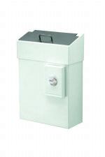 Grote hygiënebak van 10 liter wit met zakjes houder MediQo-line MQHB10P voor alle sanitaire plaatsen