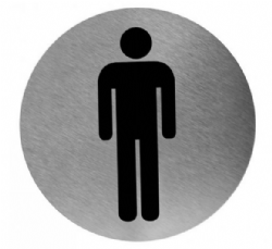 Pictogram MAN RVS rond model PS0003CS Mediclinics