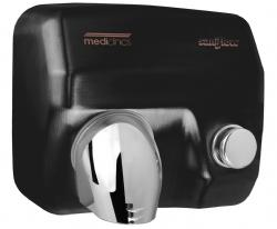 Zwarte handendroger Mediclinics met drukknop model E05B