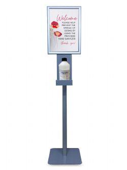 Hygienezuil HygieneKompas met A3 kliklijst voor info en houder voor desinfectiemiddel