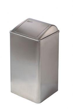 RVS 65 liter afvalbak van Mediclinics PP0065CS met push deksel
