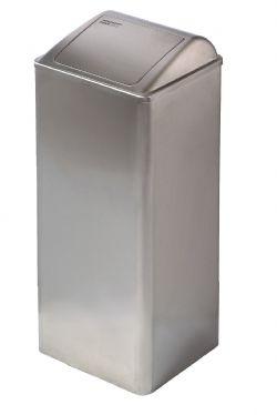 Afvalbal RVS 80 liter Mediclinics PP0080CS gesloten