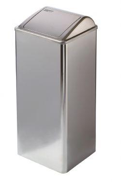 Grote 80 liter afvalbak hoogglans RVS Mediclinics voor keuken, restaurant, horeca of medisch instelling