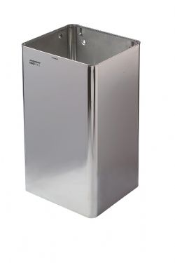 Afvalbak hoogglans RVS 65 liter open model Mediclinics PP1065C