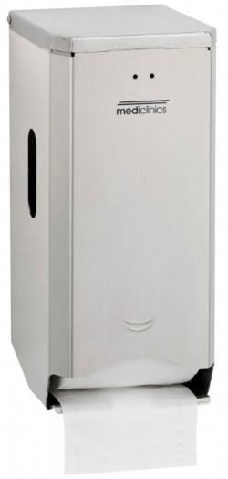 Toiletrol houder RVS Mediclinics PR2784CS voor 2 rollen
