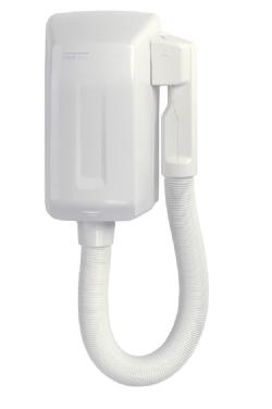 Goedkope haardroger wit kunststof met slang model SC0004 Mediclinics