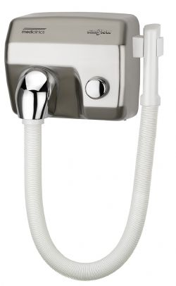 Haardroger RVS look model SC0088HTCS Mediclinics met slang en drukknop
