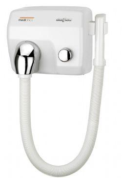 Haardroger wit met slang model SC0088HT Mediclinics met drukknop
